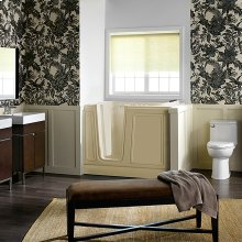 Luxury Series 30x51-inch Walk-In Tub  Combo Massage Tub  American Standard - Linen