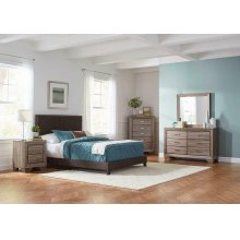 Boyd Upholstered Brown King Bed