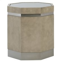 Mosaic Octagonal End Table in Dark Taupe Shagreen (373)