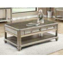Metallic Platinum Coffee Table