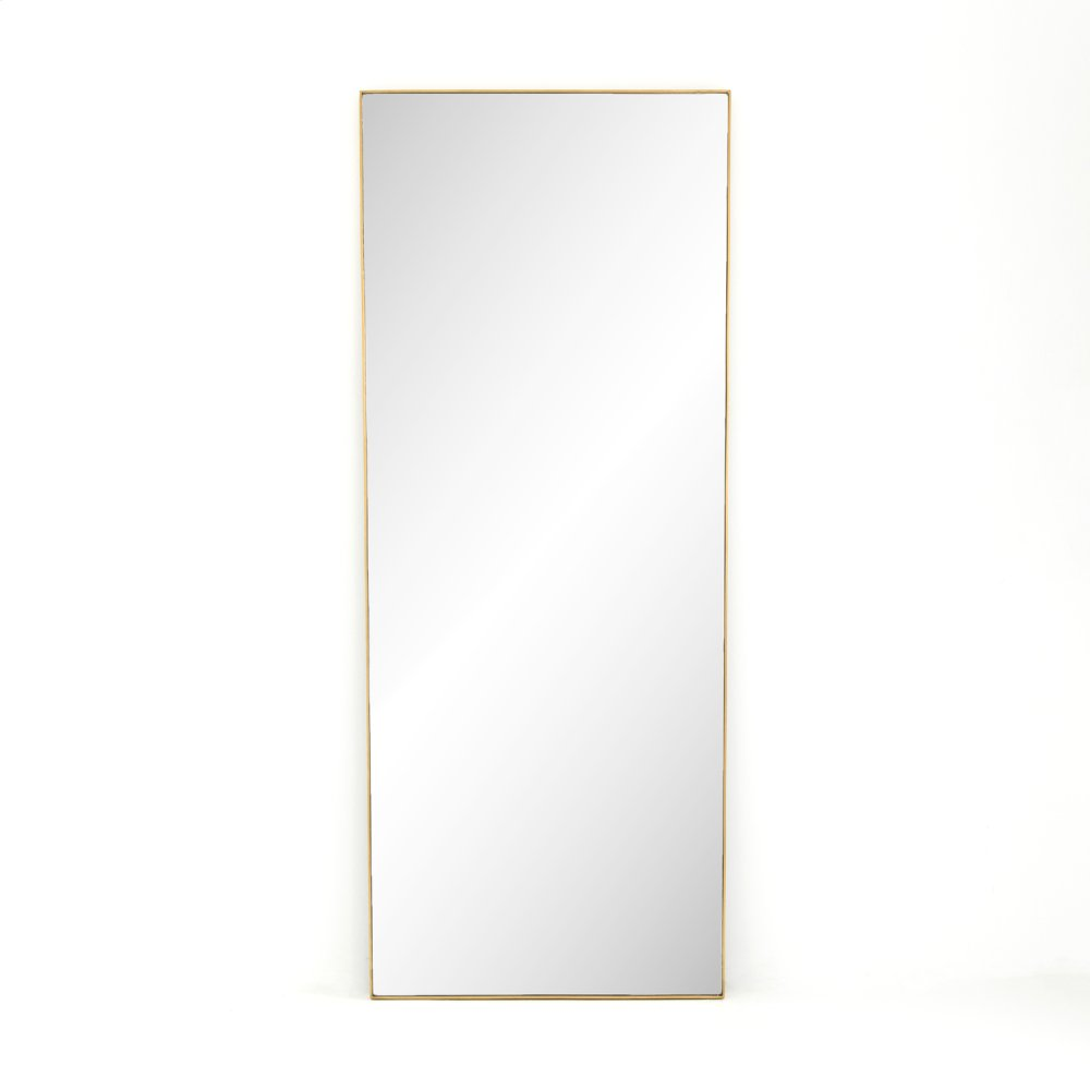 Polished Brass Finish Bellvue Floor Mirror