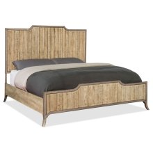 Bedroom Urban Elevation California King Wood Panel Bed
