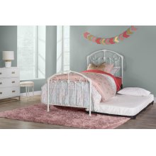 Maddie Twin Bed Set With Suspension Deck and Roll Out Trundle - Glossy White