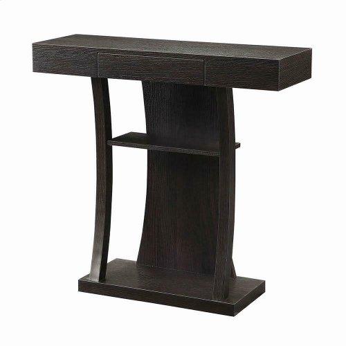 Contemporary Cappuccino Console Table