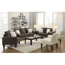 Bachman Transitional Grey Three-piece Living Room Set