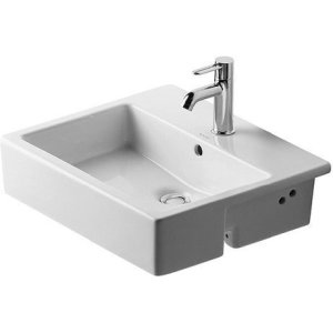 Vero Semi-recessed Washbasin 3 Faucet Holes Punched