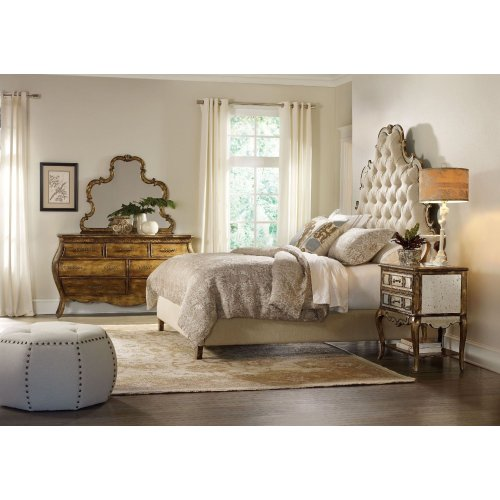 Bedroom Sanctuary Queen Tufted Bed - Bling