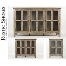 """Rustic Shores Watch Hill Weathered Grey 32"""" Accent Cabinet"""