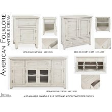 American Folklore Accent Chest - Antique Cream