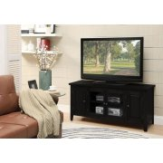 BLACK FINISH TV STAND Product Image