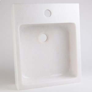 Small Vessel with Faucet Deck, Athens Crystal White Product Image