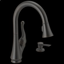 Venetian Bronze Single Handle Pull-Down Kitchen Faucet with Soap Dispenser