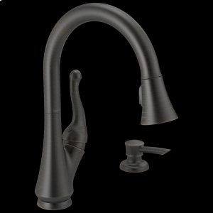 Venetian Bronze Single Handle Pull-Down Kitchen Faucet with Soap Dispenser Product Image