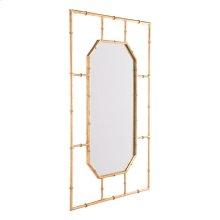 Bamboo Rectangular Mirror Gold