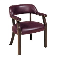 Burgundy Leatherette Office Chair