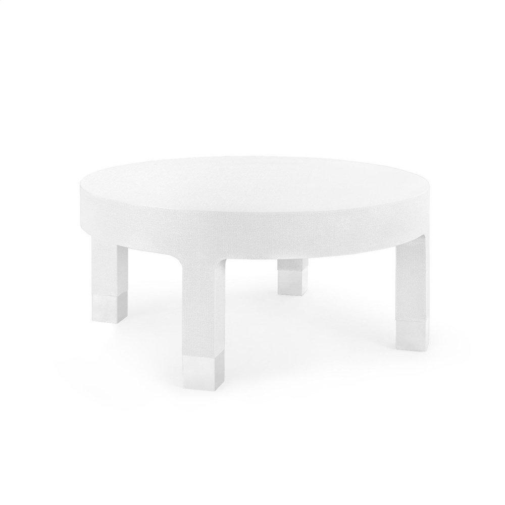 Dakota Round Coffee Table, White