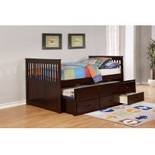 Bennett Espresso Full Bed with Trundle & 3 Storage Drawers