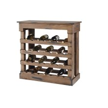 Wine Storage Chest - Denim on Toffee Finish