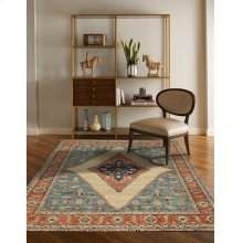 Charise-Tabriz Fog Blue Hand Knotted Rugs