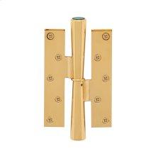 Brushed Nickel Malachite Conical Standard Hinge RH 1-1/4 Strap