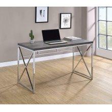 Transitional Weathered Grey Writing Desk