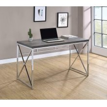Transitional Weathered Grey Writing Desk