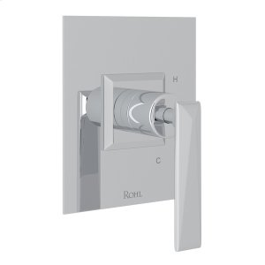 Polished Chrome Vincent Pressure Balance Trim Without Diverter with Metal Lever Product Image