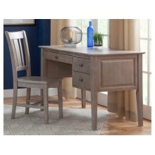 2-Drw Lancaster Executive Shaker Desk in Taupe Gray