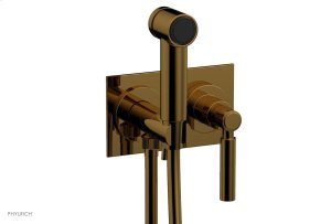 BASIC Wall Mounted Bidet, Lever Handle 130-65 - French Brass Product Image