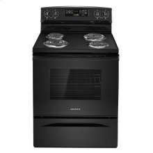 30-inch Electric Range with Self-Clean Option Black
