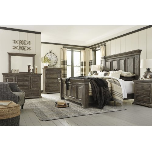 Wyndahl - Rustic Brown 3 Piece Bed Set (King)