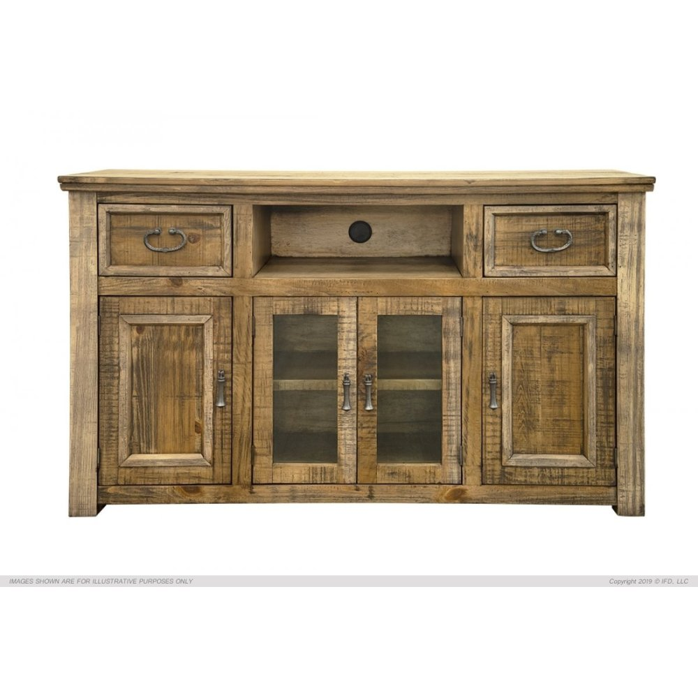 """60"""" TV Stand w/ 2 Drawers & 4 Doors"""