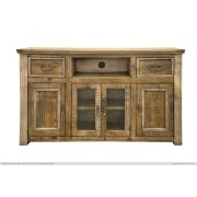 """60"""" TV Stand w/ 2 Drawers & 4 Doors Product Image"""