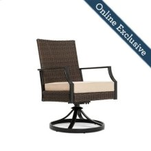 Addyson Woven Cushioned Swivel Dining Chair