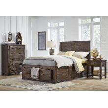 Jackson Lodge Queen Footboard With 2 Drawers and Slats