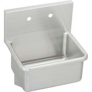 """Elkay Stainless Steel 21"""" x 17-1/2"""" x 12, Wall Hung Service Sink Product Image"""
