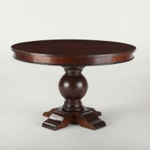 """Colonial Plantation Round Dining Table 48"""" Light"""