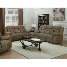 Houston Casual Tan Reclining Two-piece Living Room Set