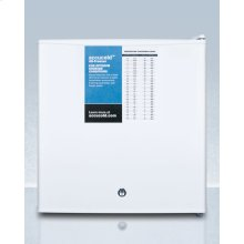 Compact Manual Defrost All-freezer With Lock and Probe Hole