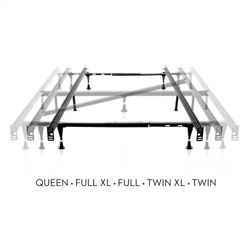Adjustable Queen / Full / Twin Bed Frame Wheels