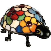 Flowered Ladybug Accent Lamp in Vintage Bronze