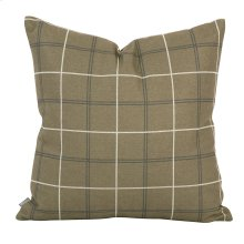 "20"" x 20"" Pillow Oxford Moss - Down Insert"