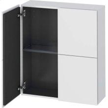 Semi-tall Cabinet, White Matte