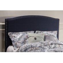 Kerstein Fabric Headboard - King - Headboard Frame Not Included - Navy Linen
