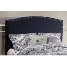 Kerstein Fabric Headboard - King - Headboard Frame Not Included - Navy Linen