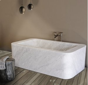 One of A Kind Bathtubs Rectangle / Carrara Marble Product Image