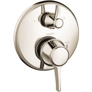 Polished Nickel Pressure Balance Trim with Diverter, Round Product Image