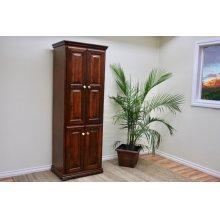 "A-T2472-FD Traditional Alder 24"" Full Raised Panel Door Bookcase"