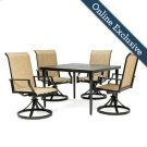 Addyson 5pc Sling Dining Set (Square table and 4 Swivel) Product Image
