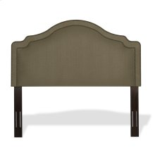 Versailles Upholstered Headboard with Adjustable Height and Nailhead Trim, Brown Sugar Finish, Full / Queen